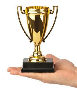 trophy hand shutterstock