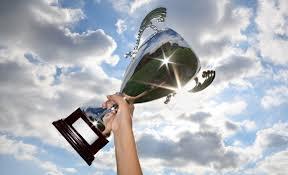 raised trophy